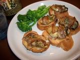 牡蠣(かき)のベーコン巻きの完成