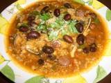 黒豆スープ応用のトマトリゾット