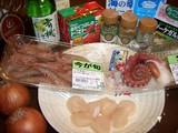 海鮮カレーライスの材料