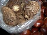 里芋の親イモ&小イモと栗