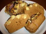 サツマイモの蒸しパンケーキの完成