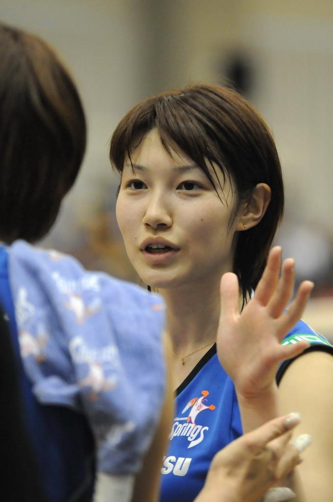 バレーボール選手狩野舞子