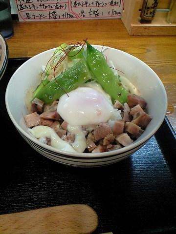 塩釜チャーシュー ユッケ丼