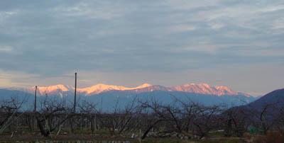 南アルプスの夜明け