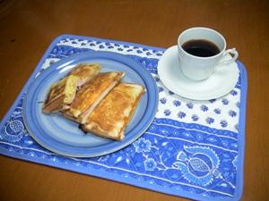 ホットサンド朝食
