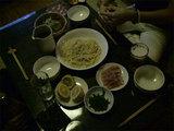チキンレモンパスタの食卓