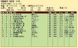 第34S:11月3週 京王杯2歳S 成績