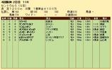 第20S:09月3週 セントウルS 成績