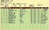 第17S:11月3週 京王杯2歳S 成績