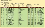 第21S:10月2週 毎日王冠 成績