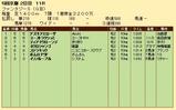 第27S:11月2週 ファンタジーS 成績