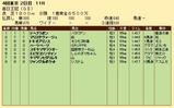 第22S:10月2週 毎日王冠 成績