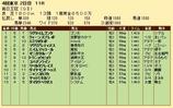 第27S:10月2週 毎日王冠 成績