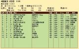 第24S:10月2週 毎日王冠 成績