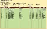 第31S:10月2週 毎日王冠 成績
