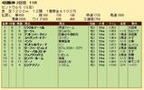 第21S:09月3週 セントウルS 成績