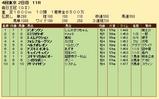 第28S:10月2週 毎日王冠 成績