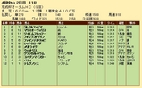 第28S:09月3週 京成杯AH 成績