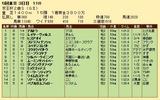 第30S:11月3週 京王杯2歳S 成績