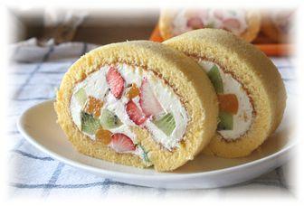フルーツロールケーキ 1